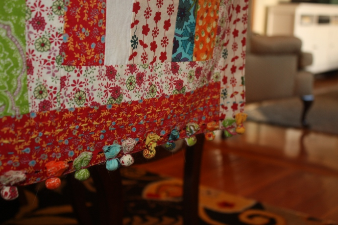 tassled table runner (from Anthro, obvi)